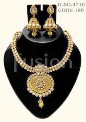Polki Antique Necklace Set