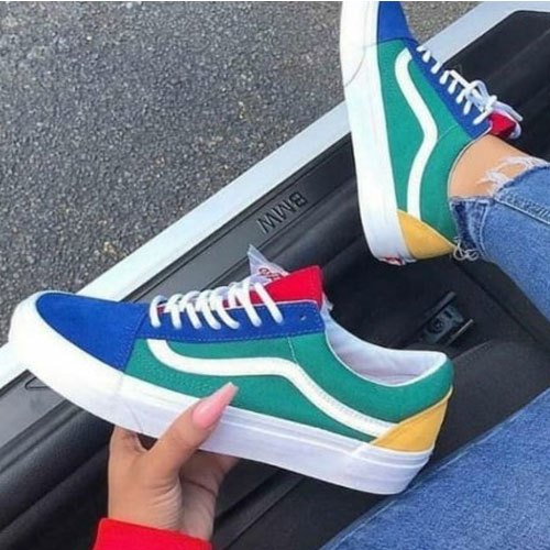 Multicolor Vans Men Sneaker Shoes, Size
