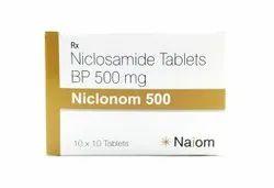 Niclonom 500mg - 1x10 - Niclosamide Tablets