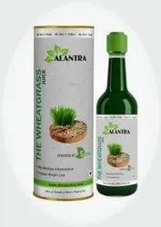 The wheatgrass juice
