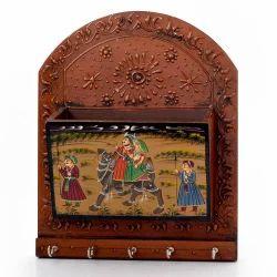 Wooden Emboss Letter Key Hanger