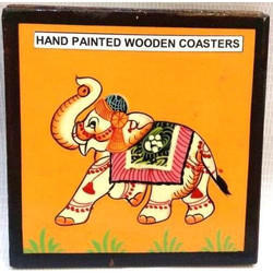 Hand Painted Wooden Coasters
