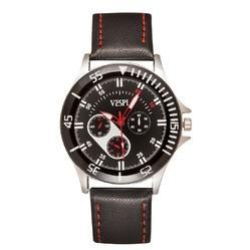 Vespl High Quality Chronograph Look Black Dial Men's watch