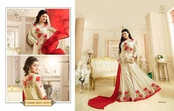 Designer Semistitched Salwar Suit