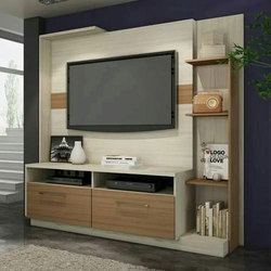 Tv Stand New Designs : Wooden designer coloured tv unit rs 500 square feet crown decor