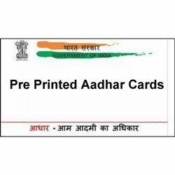 Aadhar Pre Printed PVC Card( Pack Of 500)