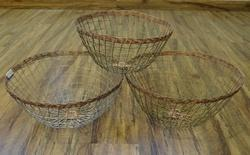 Wire Baskets Set Of 3
