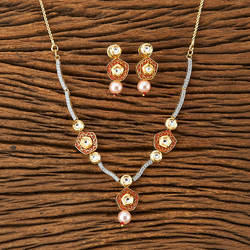 Kundan Classic Necklace with gold plating 45258