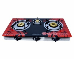 Automatic 3 Burner Gas Stove with Marble