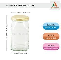 500 Gm Square Fancy Jam Jar