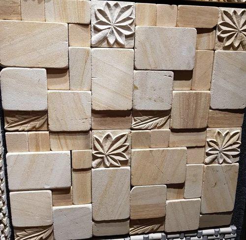 Teak CNC Design Wall Stone