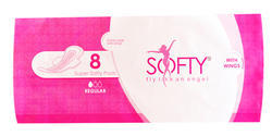 SOFTY SANITARY PADS 240 MM WITH WINGS