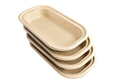 750 ml Oval Baggase Container