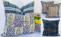Indigo Rug Block Print Cushion Cover