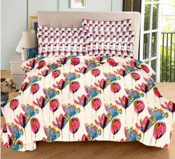Always Plus Multi Flower Cotton Double Bedsheet