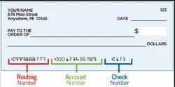 E- Check Account Delivery