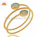 Handmade Gold Plated Fashion Gemstone Cuff Bracelet