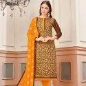 Golden Weaving Silk Suit