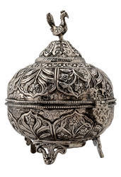 Hand Craved White Metal Jewellery Box