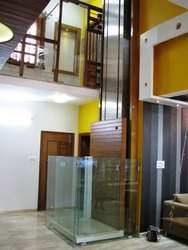 Hydraulic Home Lift Open - Glass Type