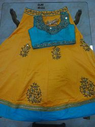 Yellow Georgette Embroidered Lehenga Choli