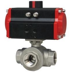 Series WE31 3-Way NPT Stainless Steel Ball Valve