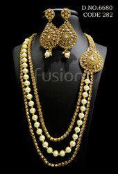 Antique Pearl Necklace Set