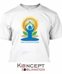 Yoga Day Printed T Shirts