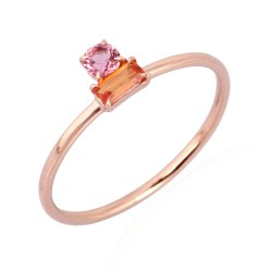 10K Rose Gold Gemstone Band Ring