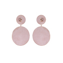 Diamond Round Brush Finish Earrings