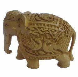 Fine Engraved Wooden Elephant