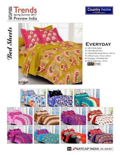 Printed Double Bed Sheet- Everyday
