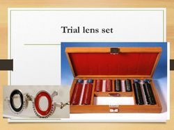 Ophthalmic Trial Lens Set