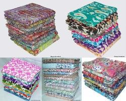 Handmade Kantha Quilt Reversible 90x108