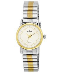 Omax Analog White Dial Women's Watch - BLS313A003