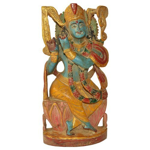 Wooden God Statues   Natural Wooden Radha Krishna Statue Exporter From  Jaipur