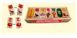 Hindi Consonants Picture Puzzle Strip