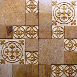 Eta Gold Sand Stone Designer Wall Mosaic Tiles