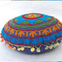 Round Embroidered Cushion