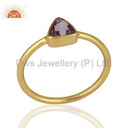 Amethyst Gemstone 925 Silver Rings