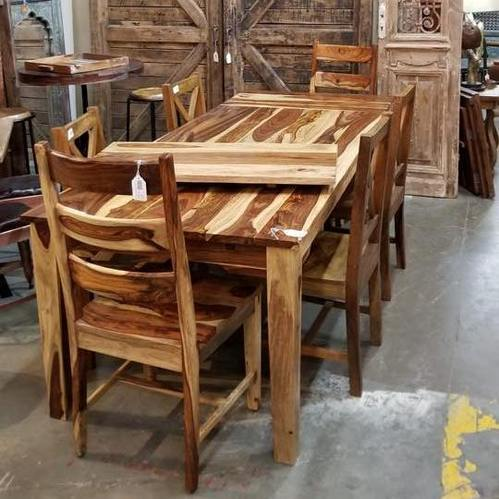 Sheesham Wood Dining Table Chair Set
