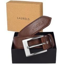 Leatherette Belt In Brown