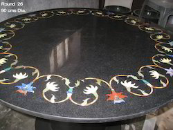 Black Top Marble Table Top