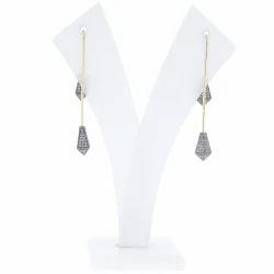 Pave Diamond Fashionable Earrings Jewelry