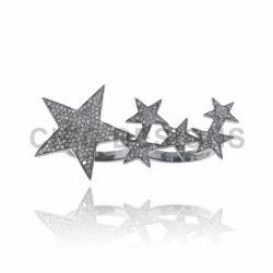 Star Two Finger Diamond Ring