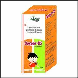 Paracetamol 250mg  Phenylephrine Hcl 5mg  Chlorpheniramine Maleate 2mg  Dextromethorphane Hbr