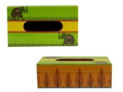 Customized Printed MDF Wooden Tissue Box