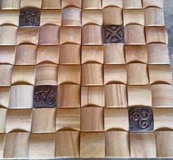 Teekwood Sandstone Wall Mosaic Tiles
