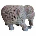 Soapstone Undercut Work Elephant