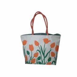 Printed Jute Designer Bag